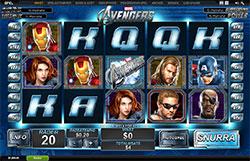 The Avengers Slot Screenshot