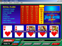 Royal Flush Videopoker
