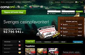 ComeOn Casino Lobby