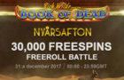 Nyårsafton Freeroll Battle Videoslots
